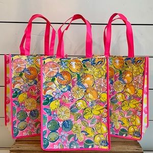 SET OF 3 Lilly Pulitzer Gift/Tote Reusable Bags